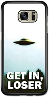 Get In, Loser Ufo I Want to Believe Retro Funny Cool Vintage Samsung Galaxy S7 Edge 用 カバー ケース サムソン ギャラクシー