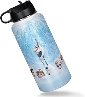 Frozen Snow Insulated Sports Water Bottle with Straw Lid...