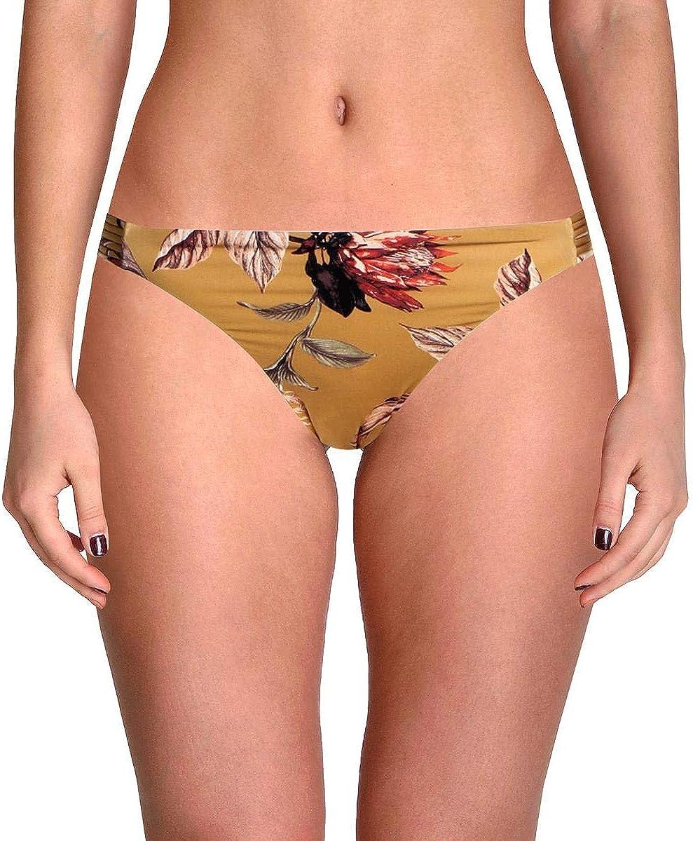 BCBGMAXAZRIA Womens Floral Strappy Swim Bottom Separates