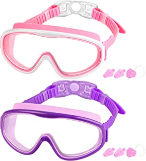 Swimming Goggles for Kids, 2 Pack Swim Goggles for Child from 4 to 15 Years Old