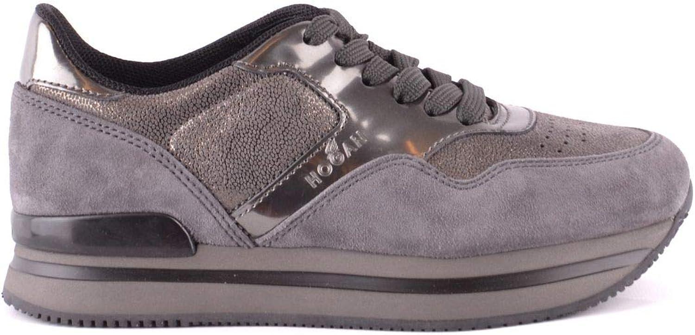 Hogan Hogan Hogan Woherrar MCBI37416 grå läder skor  heta sportar