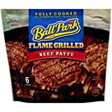 Best Frozen Hamburger Patties - Ball Park Fully Cooked Flame Grilled Beef Patties Review