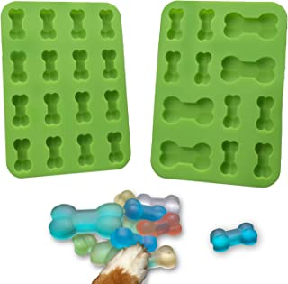 MODAPHY Bone Silicone Mold, Non-Stick Dog Treats Mold, Ice Cube,Jelly, Biscuits, Chocolate, Candy, Cupcake Baking Mould, M...