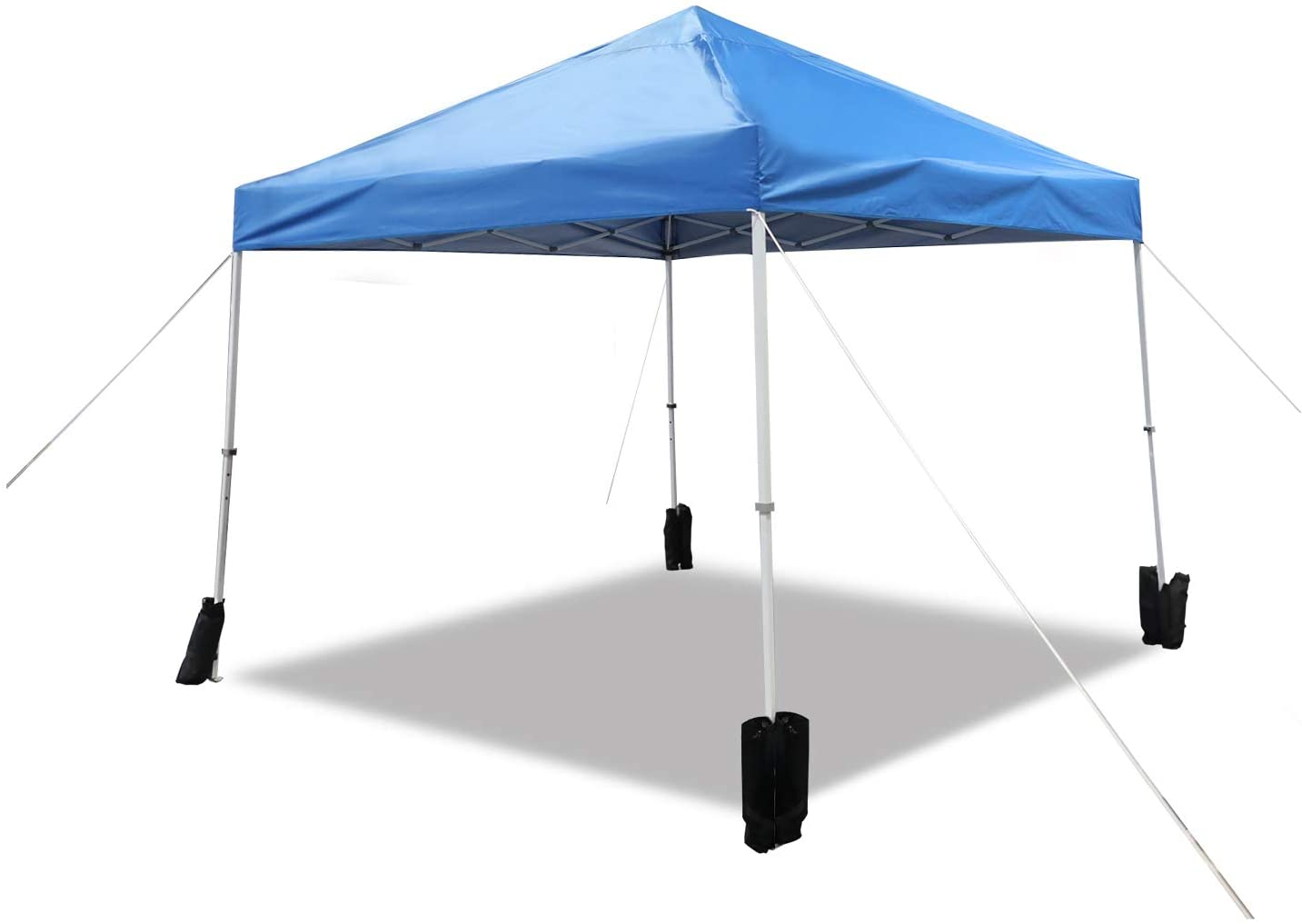 Amazon Basics Outdoor Pop Up Canopy 10ft Wheeled Super beauty product restock quality New life top with Ca x