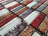 10 cm x 10 cm modello. Vetro mosaico piastrelle modello rosso mattone Pietra Dimensioni in autunno seguenze colori con far Eastern struttura MT0006 modello