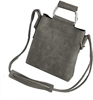 DIEBELLAU Scrub Hand Shoulder Diagonal Cross Bag Female Retro Winter Female Bag (Color : Gray)