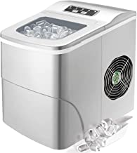 Tavata Countertop Portable Ice Maker Machine, 9 Ice Cubes Ready in 8 Minutes,Makes 26 lbs of Ice per 24 hours,with LED Dis...