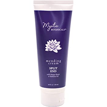 Mystic Botanicals Split End mending Cream with mango Butter & Babassu Oil | Argan Oil Makes Hair Silky Soft with shine | Paraben Free | 4 Fl. Oz