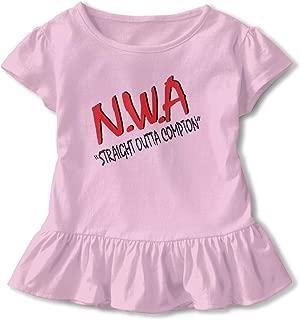 TIANBA Design Pretty Tees N.W.A Logo Straight Outta Compton Cool Dress T-Shirt for Girls