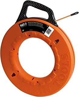 Klein Tools 56059 Fish Tape 200-Foot Is Non-Conductive Fiberglass, Flexible, Pull Line To 500 Lb