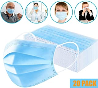 CICMOD 10/20/30/50pcs Disposable Face Cover Mask Dust-proof And Breathable Filter Anti-pollution(20 pack)
