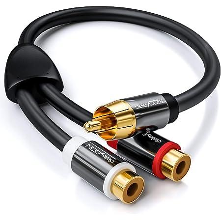 Deleycon 0 20m Audio Cinch Y Adapter Verteiler Kabel Elektronik