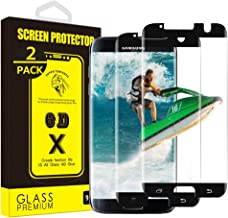 [2 Pack] Yoyamo [Tempered Glass] BC820 Screen Protector for Samsung Galaxy S7 Edge [Case Friendly], Black