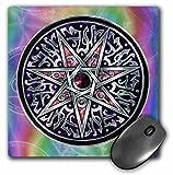 3dRose LLC 8 x 8 x 0.25 Inches Mouse Pad, Star of Fey Pagan Wiccan Magickal Sigil Art (mp_156824_1)