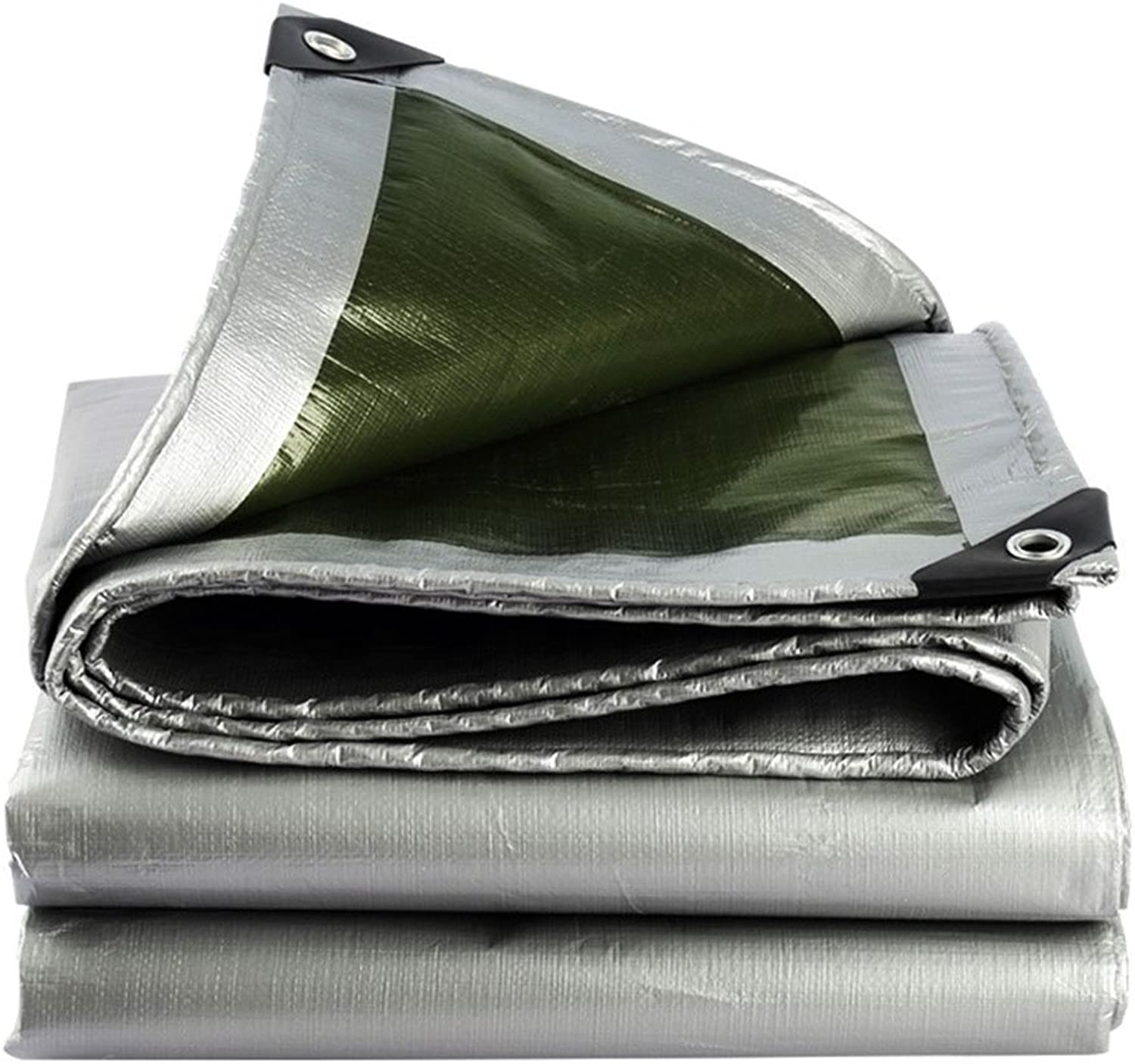 Thick UV Predection Waterproof Tarp, Silver Outdoor Tent Top Tarpaulin, Sunshade Top Tarp Sheet, Multi Sizes, 180G M2 (color   Silver, Size   5x8M)