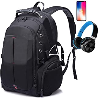 Large Travel Laptop Backpack, Anti Theft 17 Inch Bookbags with USB Charging Port for Men&Women,TSA Friendly Backpack