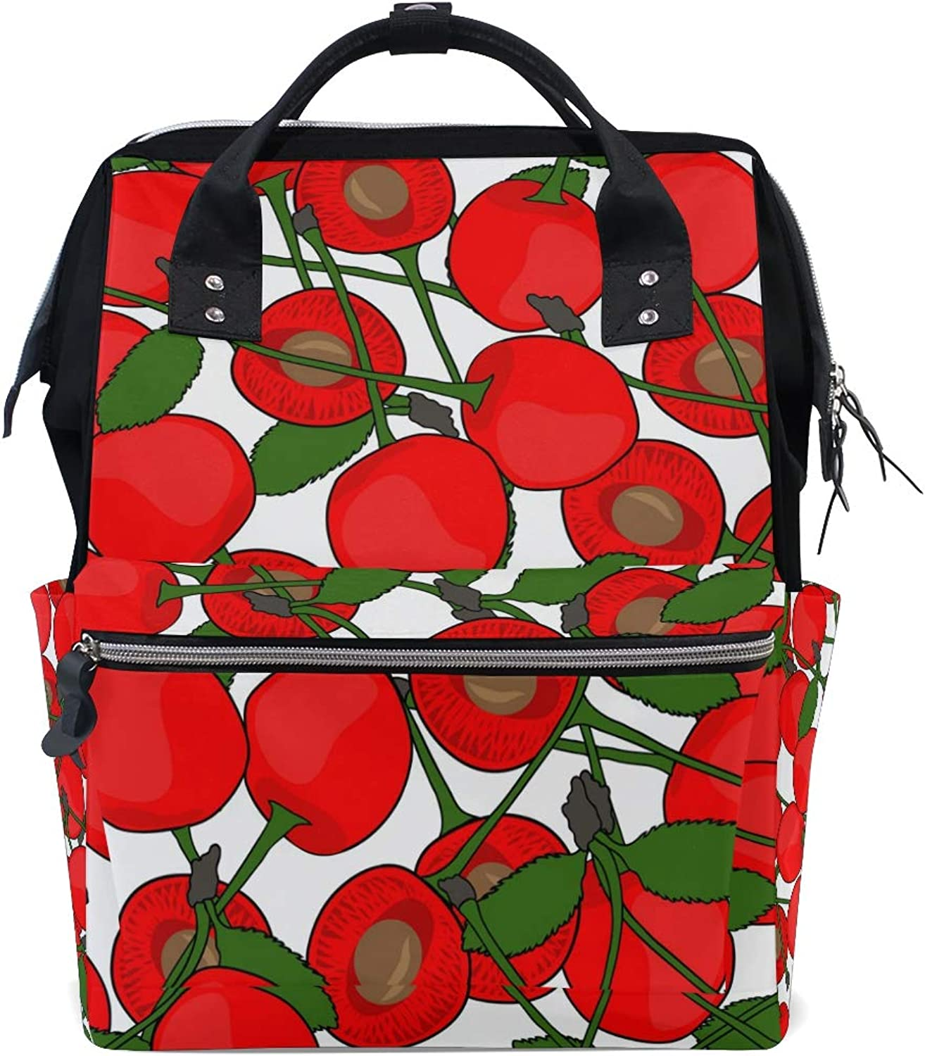 DEZIRO Canvas Tasty Fruit School Pack Backpacks Travel Bag