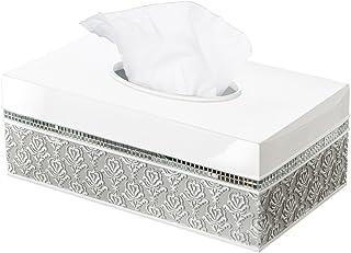 (Tissue Box (Rectangle)) - Creative Scents Mirror Damask Rectangle Tissue Box Cover, Decorative Bathroom Tissues Paper Nap...