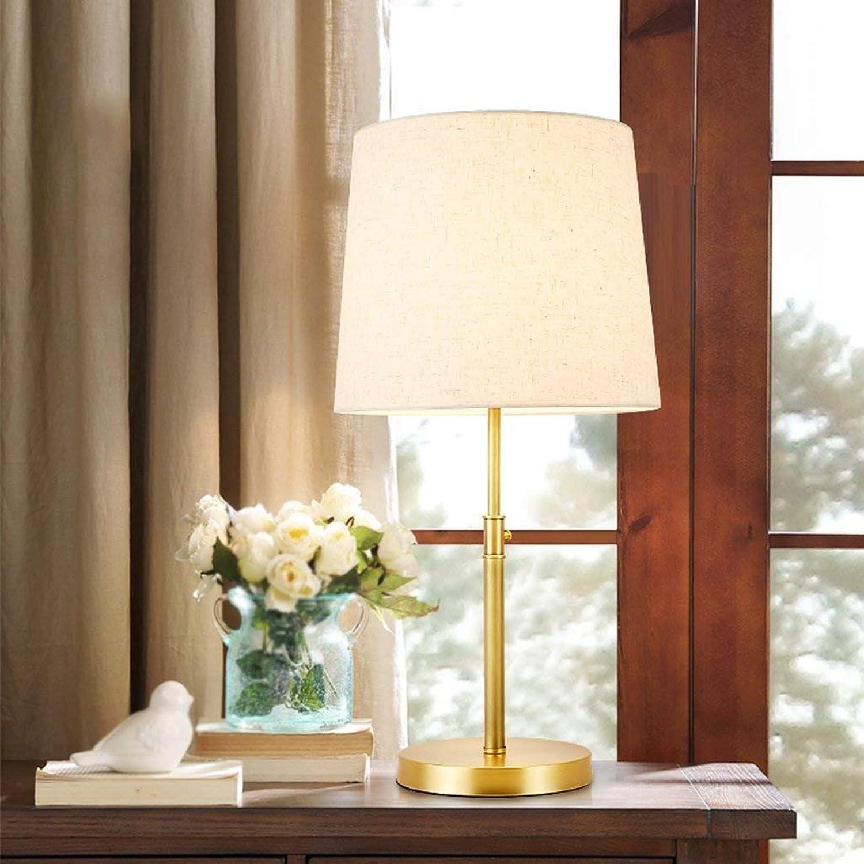 Stts Household Bedside Table Lamp, Decoration Desk Desk Desk Lamp, Studentye Protection Table Lamp, Adjustable Desk Lamp-Copper Lamp Body and Cloth Lamp Shade Cap Type B07LBDGM4Z | Schenken Sie Ihrem Kind eine glückliche Kindheit  6bd877