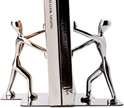 Fasmov Heavy Duty Stainless Steel Man bookends Nonskid Bookends Art Bookend,1 Pair