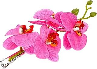 Graceful Hawaiian Orchid Flower Hair Clips Women Girls Brooch Festivals Corsage