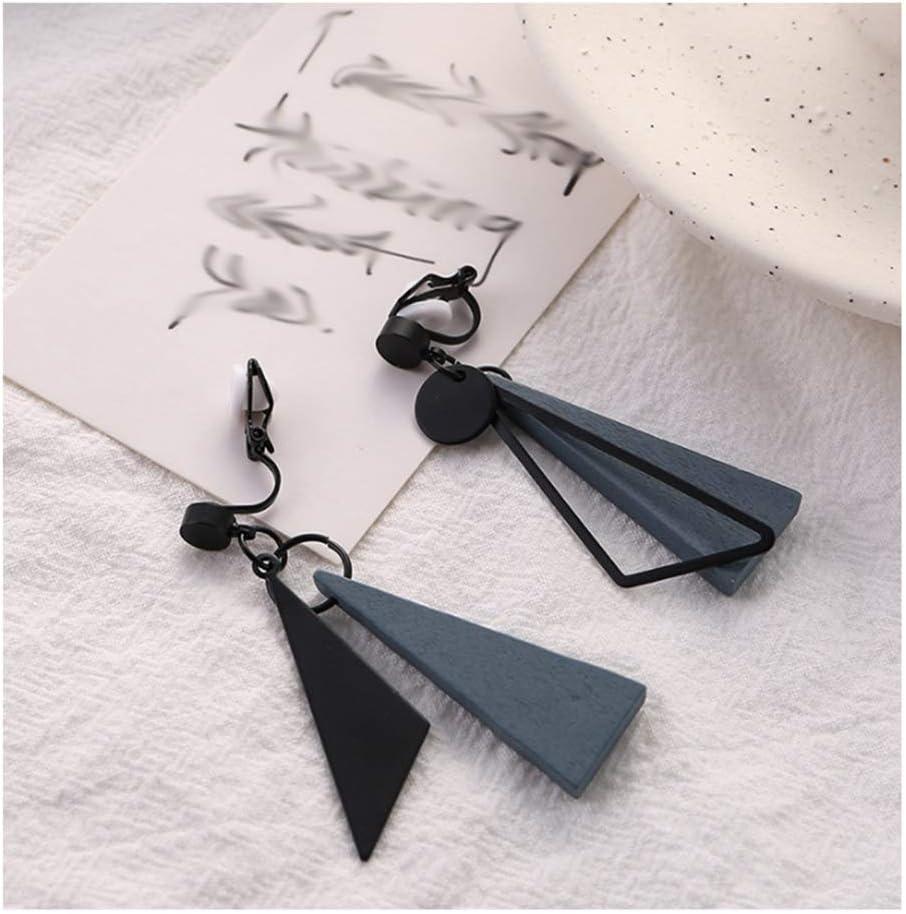 Earrings Dangle Earring for Women Asymmetrical Earrings Ear Clips Fashion Jewelry Gift for Mom, Friends,Girlfriend Stud Earrings (Color : Ear Clips)
