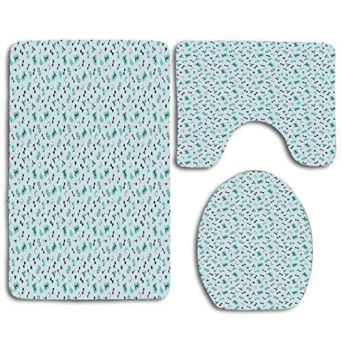 Trista Bauer Motif illustré d'accessoires bébé garçon pour Nouveau-nés Enfants Enfants 3pcs Set Tapis Tapis