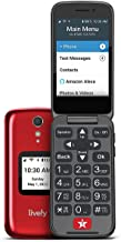 Jitterbug Flip2 Cell Phone for Seniors Red