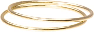 2 14K Gold Filled Stacking Rings 1mm Round