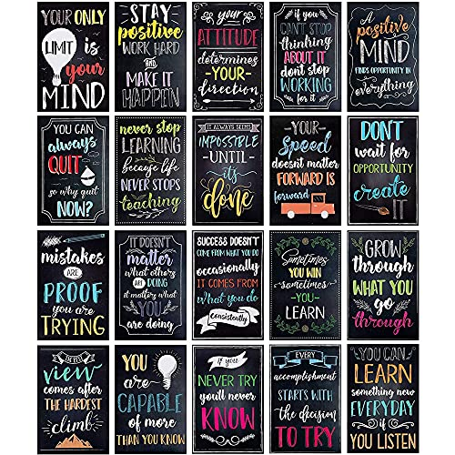 20 Pack Motivational Posters 13×19 Growth Mindset Signs...