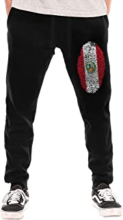 Mens Puerto Rico Resiste Boricua Flag Se Levanta Sport Cotton Jogger Pants,Gym Beam Trousers