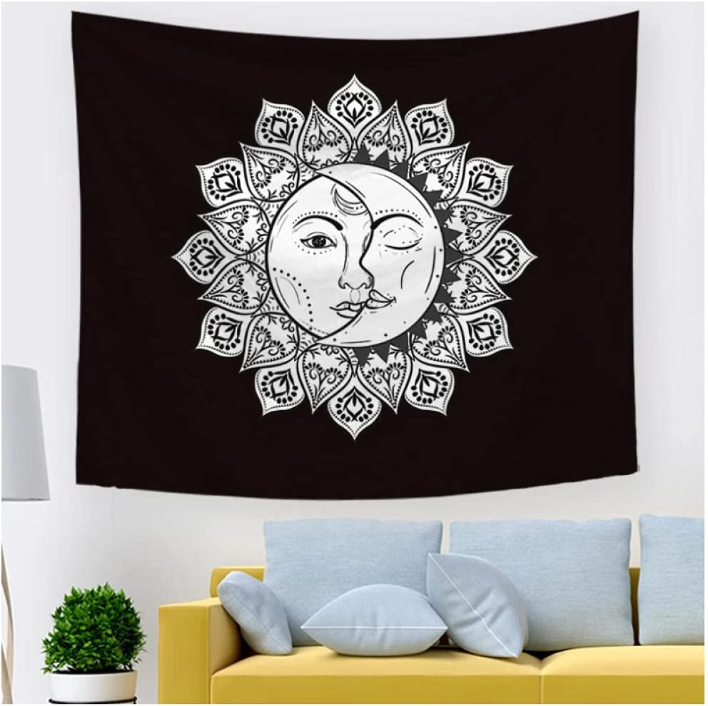 Tapestry by BD-Boombdl Sun Max 83% Max 80% OFF OFF Moon Mandala Dec Black White
