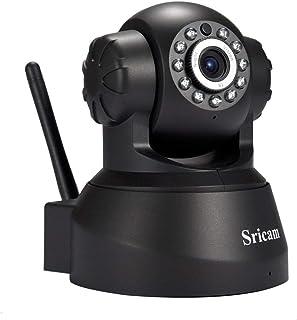 MXECO Sricam 1280 * 720 de detección de Movimiento Alarma de la cámara de Red inalámbrica IP cámara de Seguridad Inicio Monitoreo SP012 Enchufe de la UE YAHALOU