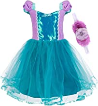 Chenzengdi Princess Mermaid Cinderella Rapunzel Dress Costumes for Toddler Girls