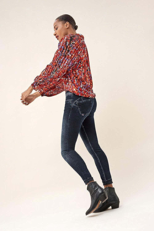 Salsa Push Up Wonder Jean skinny avec brillance sur ceinture Bleu