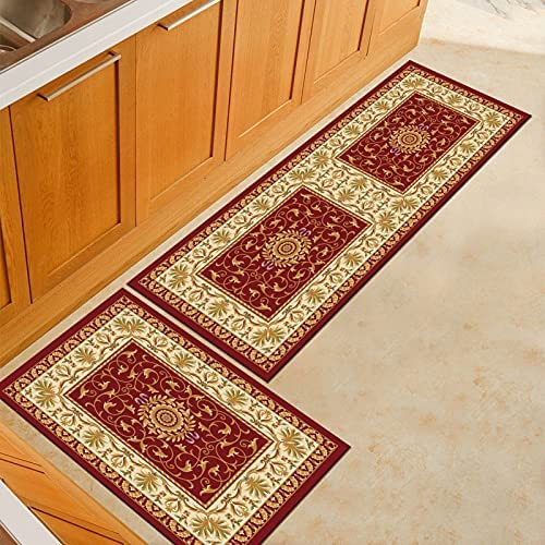 HLXX Kitchen Floor Mats Vintage Washable Absorbent Non-Slip All items in the store Rug Memphis Mall