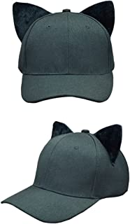 SJX Youth Kids Baby Men Women Large Big Ear Cat Character Baseball Hat Adjustment Cap Parent-Child Cap