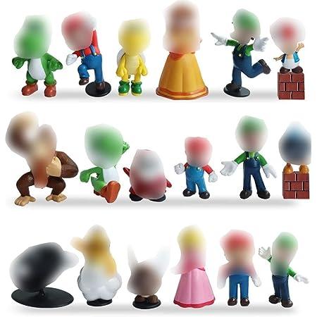 Miotlsy Super Mario Figures 18pcs / Set Super Mario Toys Figuras de Mario y Luigi Figuras de acción de Yoshi y Mario Bros Figuras de Juguete de PVC de Mario