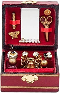 Vintage Sewing Needlework Needle Kit Box 1:12 Dollhouse Miniature Mini Decor WL