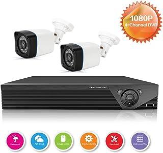 Anni CCTV cámaras Sistema 4CH 1080p DVR Kit Recorder720p al Aire Libre cámara de Balade visión Nocturnaadaptaciones para Todo el Tiempo de la cámara de Seguridad para el hogar Sistemas de cámaras
