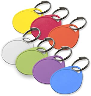 Lucky Line Round Label-It Plastic Tags - One Hole with Labels, Assorted Colors, 25 Pack (25029)