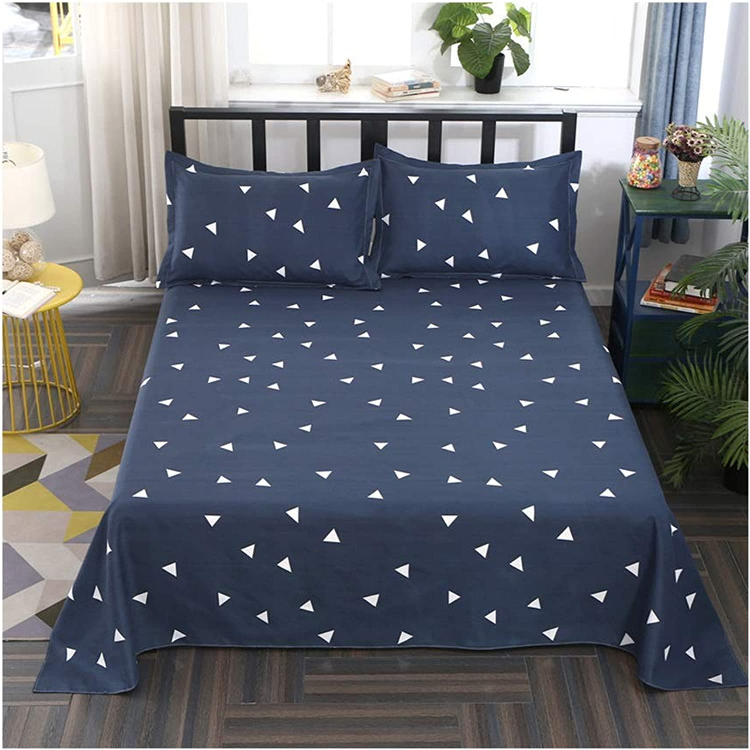 Dark Sheets 100% Cotton Sanding Thick Single 1.8 1.5 1.2m Bedroom Hotel Dormitory Double 2.5 2.3m Bed Cover (color   C, Size   180  230cm)