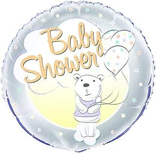 """Unique Baby Shower Bear Foil Balloon, Multi, 45cm (18"""")"""