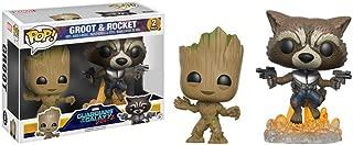 Funko - Figurine Guardians Of The Galaxy Vol 2 - 2-Pack Groot & Rocket Exclu Pop 10cm - 0889698150965