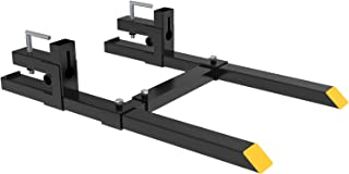 YINTATECH 60 inches Clamp on Heavy Duty Pallet Forks Adjustable Stabilizer Bar for Loader Bucket Skidsteer Tractor 1500lbs Capacity