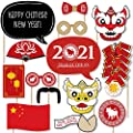 Chinese New Year - 2018 Year of the Dog Photo Booth Props Kit - 20 Count