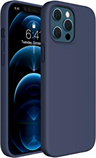 Miracase Compatible with iPhone 12 Pro Max Case 6.7 inch(2020 Release),Liquid Silicone Case Gel Rubber Full Body Protectio...