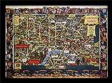Museo Nacional de ferrocarriles Londres (5)' Impresión enmarcada, Multicolor, 30x 40cm