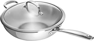 OXO Good Grips Tri-Ply Stainless Steel Pro 5QT Covered Wok with Helper Handle