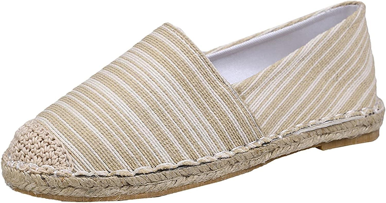 NLLSHGJ Slip on Sneakers Shoes for Women 2021 Striped Cotton Sha